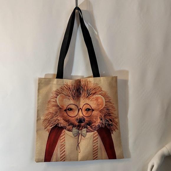 Handbags - Hedgehog Shopping Tote Market Bag NWOT